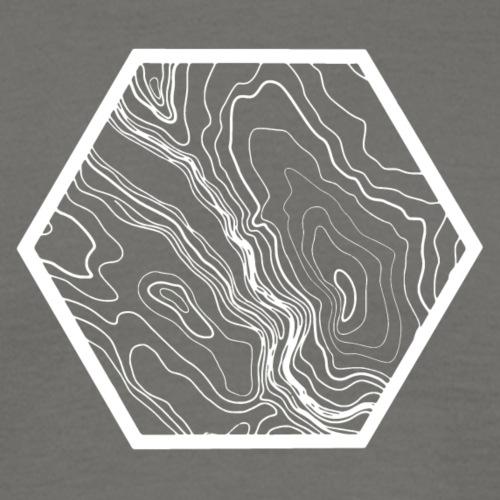 Terrain hexagon white - Männer T-Shirt