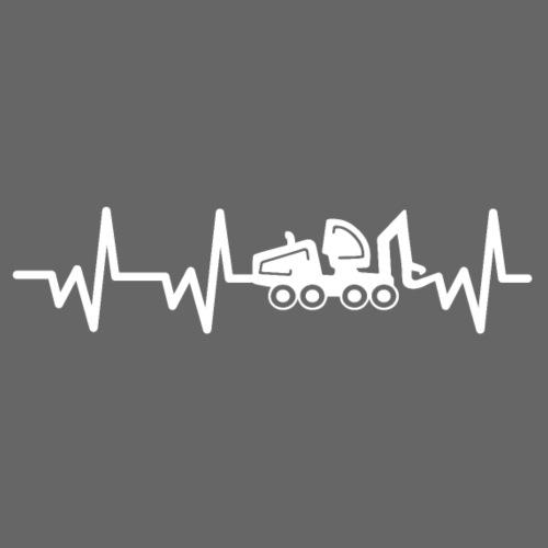 Forst | Herzschlag weiß - Männer T-Shirt
