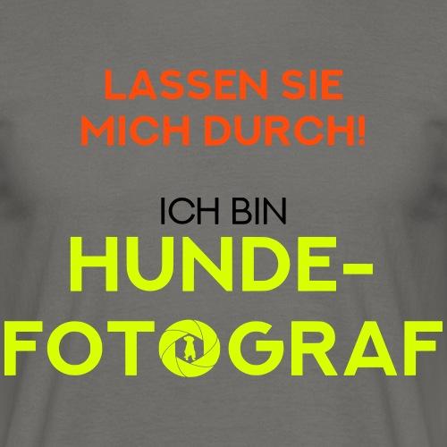 Hunde-Fotograf Fotografin Geschenkidee Design Hund - Männer T-Shirt