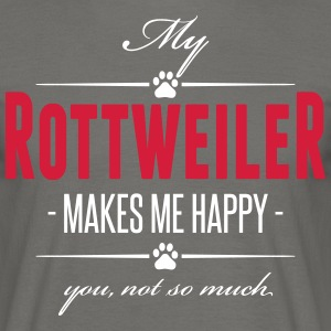 My Rottweiler makes me happy - Männer T-Shirt