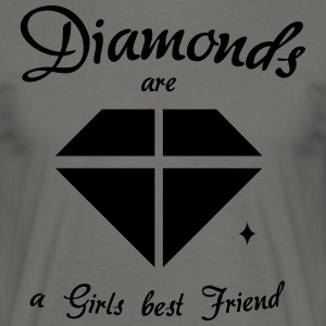 Diamanter er en Girls Best Friend - T-skjorte for menn