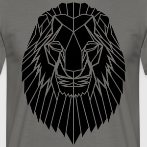 Edgy Geometric safari Lion Print door Stencilize - Mannen T-shirt