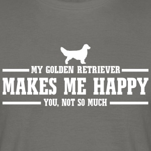 GOLDEN RETRIEVER makes me happy - Männer T-Shirt