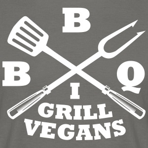 Barbecue in grill vegans (BBQ) - Men's T-Shirt