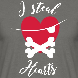 I steal Hearts - Men's T-Shirt