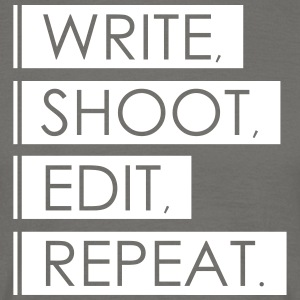Write, Shoot, Edit, Repeat - Men's T-Shirt