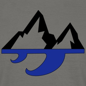 Mountain & Wave - Herre-T-shirt