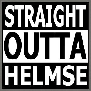 straight outta helmse - Men's T-Shirt