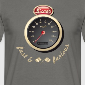 Gasoline Vintage Car car quickly Tacho Tuning km / h - Men's T-Shirt