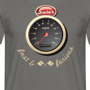 Essence Voiture ancienne Voiture rapidement Tacho Tuning km / h - T-shirt Homme