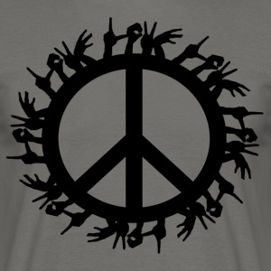++ ++ Love & Peace - T-shirt Homme