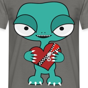 Alien heart - Men's T-Shirt