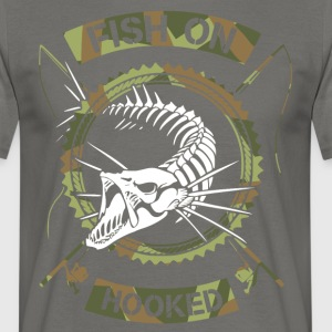 fish on white camo - Men's T-Shirt