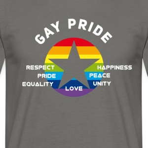 gay_star Pride asterisk liefde Respect trots cs - Mannen T-shirt