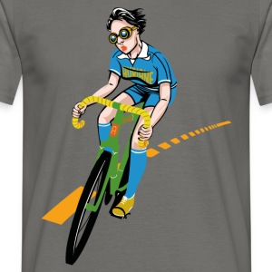 The Bicycle Girl - Men's T-Shirt