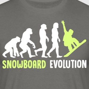++ ++ Snowboard Evolution - Mannen T-shirt