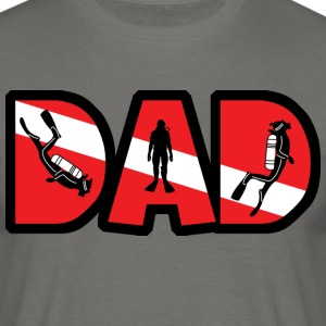 SCUBA DAD - Mannen T-shirt
