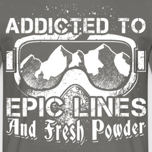 Addicted to skiing - Men's T-Shirt