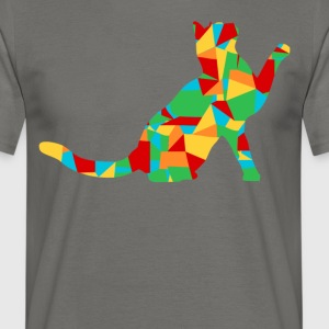 polygon katt - T-shirt herr