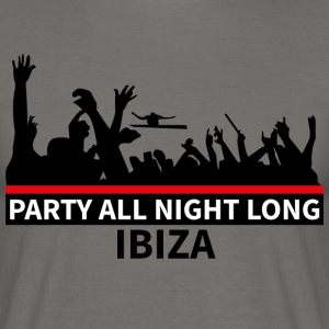 IBIZA - Party All Night Long - Herre-T-shirt