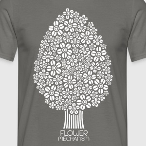 Flower mechanism white - Men's T-Shirt