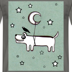 Dog, Bird & Moon - Men's T-Shirt