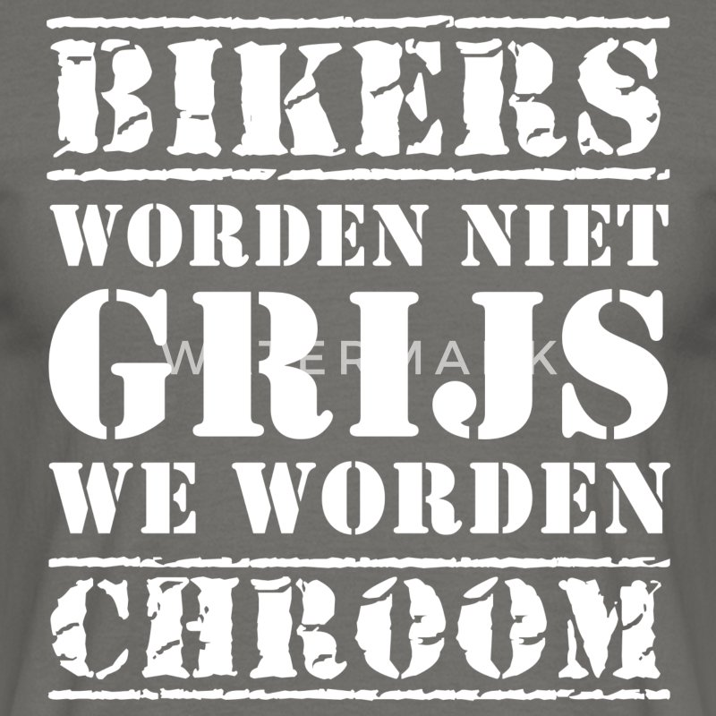 Bikers Grijs - Mannen T-shirt