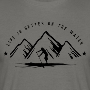 Stand Up Paddle Mountain Man - Mannen T-shirt