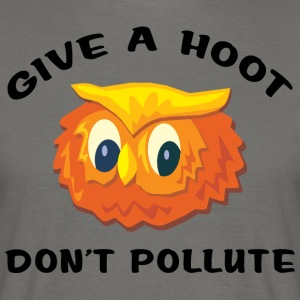 Earth Day Give A Hoot - Men's T-Shirt