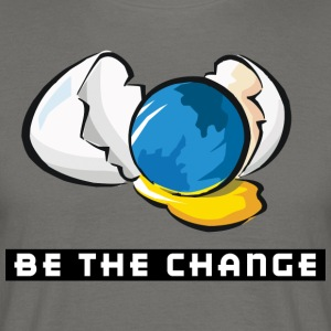 Earth Day Be The Change - Men's T-Shirt