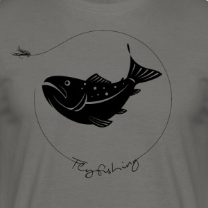troutfly - Mannen T-shirt