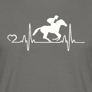 Horse Racing - Heartbeat - T-skjorte for menn