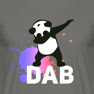 dab spatter panda dabbing touchdown fun cool LOL - Men's T-Shirt