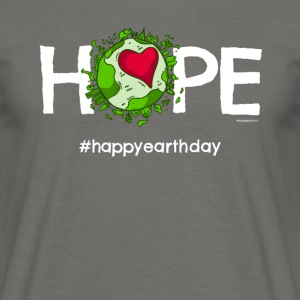 "Beautiful Earth T-shirt avec ""Happy Journée de la Terre"" - T-shirt Homme"