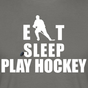 Hockey Eat Sleep Play Hockey - Mannen T-shirt