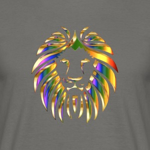 gold rainbow colored lion head - Men's T-Shirt