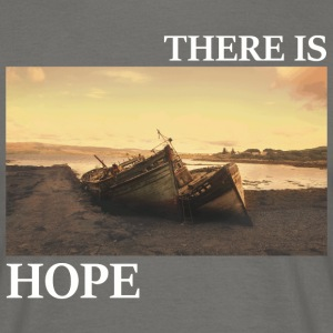 There_is_hope_picture_white_letters - T-shirt herr