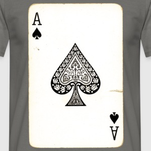 Games Card Ace Of Spades - Mannen T-shirt