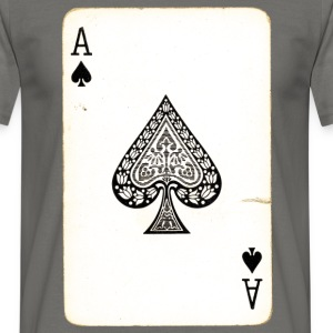 Games Card Ace Of Spades - Men's T-Shirt