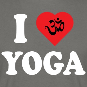 I Love Yoga - T-skjorte for menn