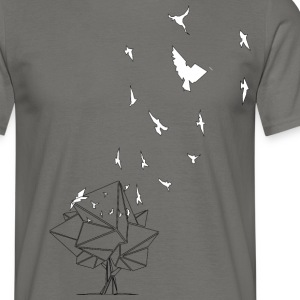 birds_baum_white / Fri som en fågel - T-shirt herr