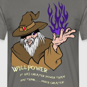Viljestyrka Wizard Brown / Dark Purple Flame - T-shirt herr