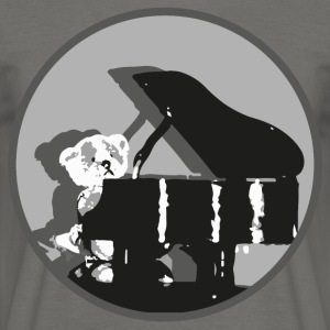 Teddy pianist - Men's T-Shirt