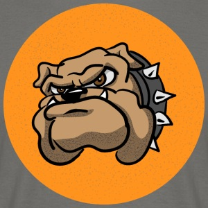 Cartoon Bulldog - T-skjorte for menn