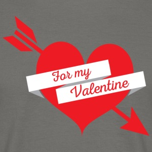 For My Valentine Heart - T-shirt herr