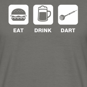 Eat Drink Dart - T-shirt herr