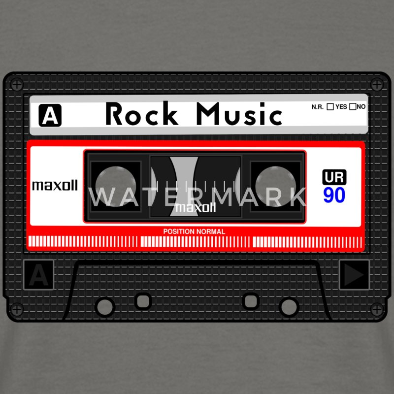 ROCK MUSIC CASSETTE - Men's T-Shirt
