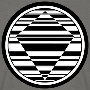circular lines deltoid black - Men's T-Shirt