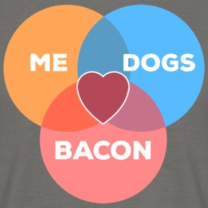 me + dogs + bacon - Men's T-Shirt