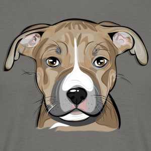 AMERICAN STAFFORDSHIRE TERRIER puppy - Men's T-Shirt
